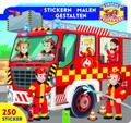 Unsere Feuerwehr: Stickern - Malen - Gestalten