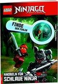 LEGO® NINJAGO® Finde den Fehler, Knobeln für schlaue Ninja, m. 1 Beilage