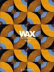 WAX Geschenkpapier, Die Farben Afrikas - Motiv Orange-blaue Kreise