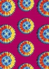 WAX Notizbuch klein - Motiv Flower Power