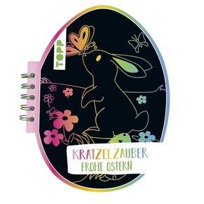 Kratzelzauber Ostern (Kratzelbuch in Ostereiform)