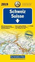 Kümmerly & Frey Strassenkarte Schweiz ACS 2019