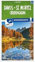 Kümmerly & Frey Davos - St. Moritz / Oberengadin 36 Wanderkarte 1:40 000 matt laminiert