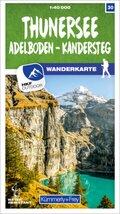 Kümmerly & Frey Thunersee / Adelboden - Kandersteg 30 Wanderkarte 1:40 000 matt laminiert