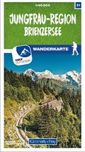 Kümmerly+Frey Karte Jungfrau-Region / Brienzersee Wanderkarte