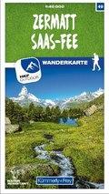 Kümmerly & Frey Zermatt - Saas-Fee 49 Wanderkarte 1:40 000 matt laminiert