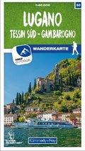 Kümmerly & Frey Lugano - Tessin Süd - Gambarogno 50 Wanderkarte 1:40 000 matt laminiert