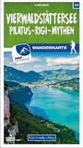 Vierwaldstättersee / Pilatus - Rigi - Mythen 20 Wanderkarte 1:40 000 matt laminiert