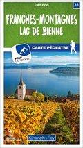 Kümmerly+Frey Karte Franches-Montagnes / Lac de Bienne Wanderkarte