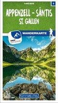 Kümmerly & Frey Appenzell - Säntis / St. Gallen 09 Wanderkarte 1:40 000 matt laminiert