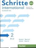 Schritte international Neu - Deutsch als Fremdsprache: Glossar XXL Deutsch-Spanisch - Alemán-Español; .2