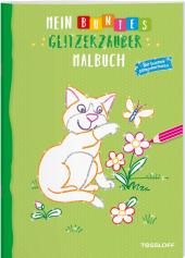 Mein buntes Glitzerzauber Malbuch (Katze)