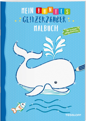 Mein buntes Glitzerzauber Malbuch (Wal)