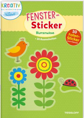 Fenster-Sticker Blumenwiese