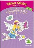 Glitzer-Sticker Malbuch Zauberhafte Elfen