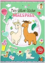 Lama. Mein Glitzer-Sticker-Malspaß