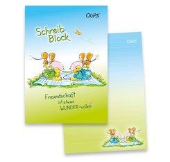 Oups-Schreibblock A5 - blau/grün