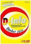 D-Info mit Rückwärtssuche Herbst 2018, 1 CD-ROM