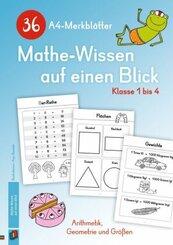 36 A4-Merkblätter Mathe-Wissen auf einen Blick - Klasse 1 bis 4