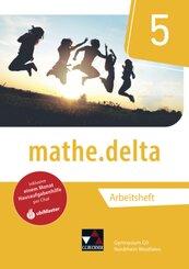 mathe.delta, Ausgabe Nordrhein-Westfalen (G9): 5. Schuljahr, Arbeitsheft; Volume 1