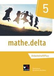 mathe.delta, Ausgabe Nordrhein-Westfalen (G9): 5. Schuljahr, Arbeitsheft Plus, m. CD-ROM