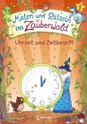 Malen und Rätseln im Zauberwald - Uhrzeit und Zeitbegriff