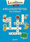 Leselöwen Kreuzworträtsel für Erstleser. 1. Klasse (Blau)