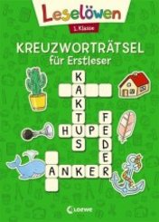 Leselöwen Kreuzworträtsel für Erstleser - 1. Klasse (Grün)