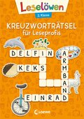 Leselöwen Kreuzworträtsel für Erstleser - 2. Klasse (Orange)