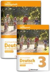 Anschluss finden Deutsch - Das Übungsheft / Grundlagentraining Klasse 3 - Leseheft und Arbeitsheft, 2 Bde.