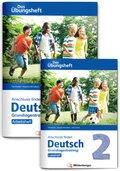 Anschluss finden Deutsch - Das Übungsheft / Grundlagentraining Klasse 2 - Leseheft und Arbeitsheft, 2 Bde.