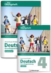Anschluss finden Deutsch - Das Übungsheft / Grundlagentraining Klasse 4 - Leseheft und Arbeitsheft