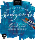 Handlettering Backgrounds - 15 kreative Hintergründe mit Pinsel, Stempel & Co.