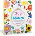 200 gestickte Blumen