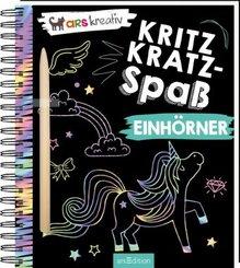 Kritzkratz-Spaß Einhörner, m. Stift