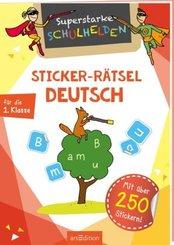 Superstarke Schulhelden - Sticker-Rätsel Deutsch für die 1. Klasse