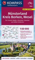 KOMPASS Fahrradkarte Münsterland, Kreis Borken, Wesel 1:50.000