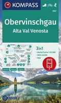 KOMPASS Wanderkarte Obervinschgau, Alta Val Venosta