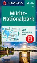 KOMPASS Wanderkarte Müritz-Nationalpark