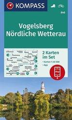KOMPASS Wanderkarte Vogelsberg, Nördliche Wetterau