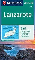 KOMPASS Wanderkarte Lanzarote