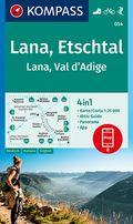 KOMPASS Wanderkarte Lana, Etschtal Lana, Val d Adige