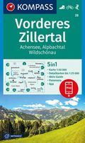 KOMPASS Wanderkarte Vorderes Zillertal, Achensee, Alpbachtal, Wildschönau