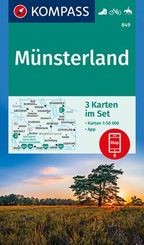 KOMPASS Wanderkarte Münsterland