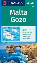 KOMPASS Wanderkarte Malta, Gozo