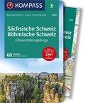 KOMPASS Wanderführer Sächsische Schweiz, Böhmische Schweiz, Elbsandsteingebirge, m. 1 Karte