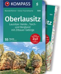 KOMPASS Wanderführer Oberlausitz, Lausitzer Heide-, Teich- und Bergland, mit Zittauer Gebirge, m. 1 Karte