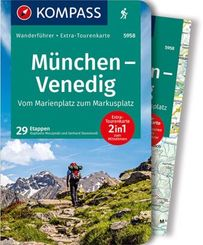 KOMPASS Wanderführer München, Venedig, Vom Marienplatz zum Markusplatz, m. 1 Karte