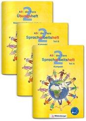 2. Schuljahr, Spracharbeitsheft Kompakt, 3 Hefte mit CD-ROM