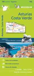 Michelin Karte Asturien, Costa Verde
